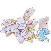 20pcs Cartoon Wooden Clips Album Photo Holder Clamps Household Clothespin