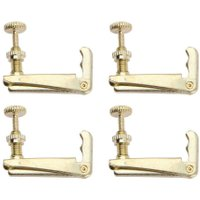 4pcs 4/4-3/4 Golden Violin Fine Tuner Copper Plating Fiddle Strings Hook High Quality Violin Parts & Accessories Fine Tuner New