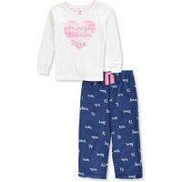 Carter's Girls' 2-Piece Pajamas - white/blue, 2t