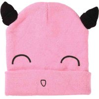 Cute Cartoon Smile Face Baby Beanies Cap with Ears Boys Girls Spring Autumn Hat Lovely Knitted Winter Warm Beanies Cap