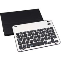 Detachable Ultra Thin Mute Stand Wireless Bluetooth Keyboard Leather Case Smart Cover with Magnetic Charging Cable for ipad