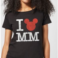 Disney Mickey Mouse I Heart MM Women's T-Shirt - Black - 3XL - Black