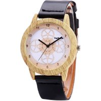 Famous Wood Alloy Female Watch Women Natural Quartz Movement