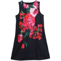 Kids Children Beautiful Floral Print Sleeveless Dress Girls Party Dress