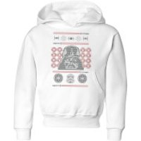 Star Wars Darth Vader Face Knit Kids' Christmas Hoodie - White - 3-4 Years - White